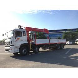 Cẩu tự hành ATOM 7 tấn Hàn lắp xe Dongfeng 4 chân