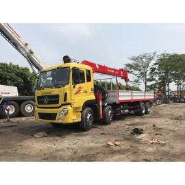 Cẩu tự hành ATOM 14 tấn Hàn gắn xe Dongfeng 4 chân