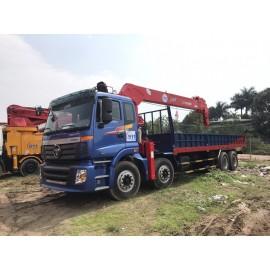 Cẩu tự hành ATOM 12 tấn Hàn gắn xe AUMAN 4 chân
